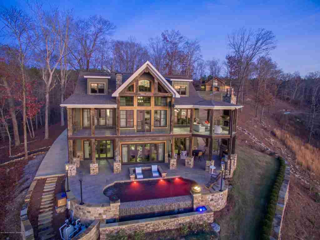 Smith lake homes houses on smith lake for Lake house builders